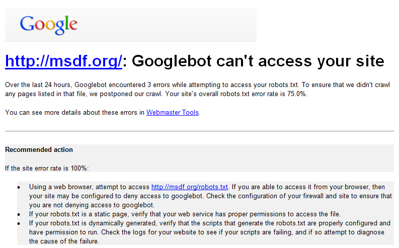 Googlebot can't access your site (Scary, right?)